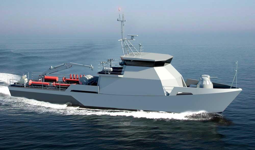 Комплексная система управления техническими средствами на пр.10750Э: Рейдовый тральщик для ВМС Республики Казахстан.