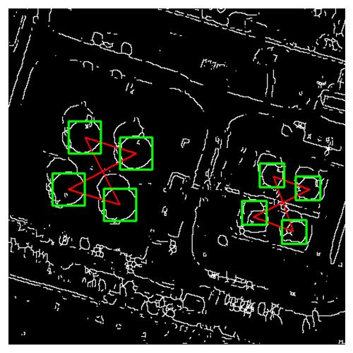 Наложение эталона на контурное изображение